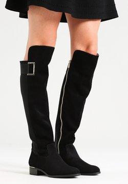 Calvin Klein - CYLAN - Overknee laarzen - black suede