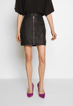Ibana - EXCLUSIVE ZIP MINI SKIRT - Leather skirt - black