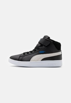 Puma - SMASH MID - Sneakers hoog - black/white