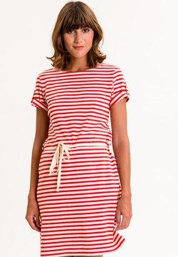 UVR Berlin - MARLISINA - Jerseykleid - rot weiß gestreift