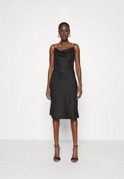 Closet - CLOSET COWL NECK SLIP DRESS - Etuikjoler - black