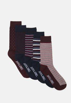 Jack & Jones - JACPORTER SOCKS 5 PACK - Socken - red dahlia/port royale/navy blazer