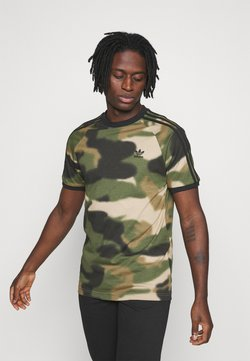 adidas Originals - CAMO CALI - T-Shirt print - wild pine/multicolor/black