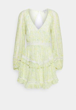 Forever New - JANE SPLICE MINI DRESS - Freizeitkleid - sweet mint ditsy