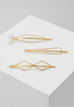 sweet deluxe - HAIR ACCESSORY 3 PACK - Haar-Styling-Accessoires - gold-coloured/white
