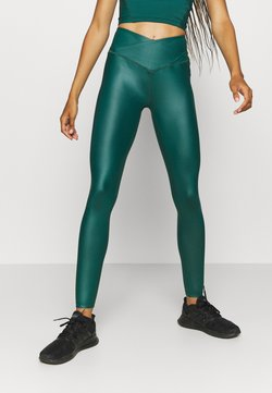 South Beach - SHINE WAIST LEGGING - Tights - deep green