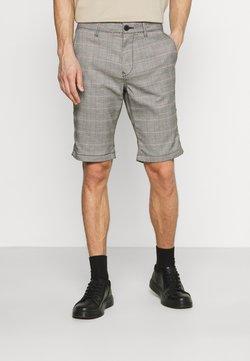 TOM TAILOR DENIM - CHECK - Shorts - offwhite/black/tobacco