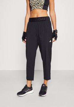 adidas Performance - BRANDED PANT - Pantaloni sportivi - black/white