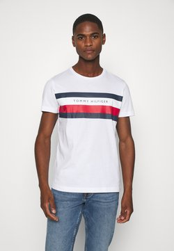 Tommy Hilfiger - STRIPE TEE - T-shirt con stampa - white