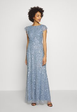 Maya Deluxe - DIP BACK ALL OVER SEQUIN MAXI DRESS - Ballkleid - dusty blue