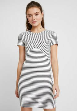 Vero Moda - VMVIGGA SLIM SHORT DRESS - Etui-jurk - snow white/black