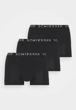 Schiesser - PIMA HIP 3 PACK  - Shorty - schwarz
