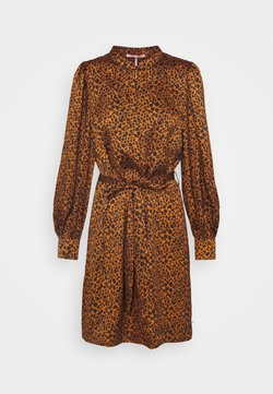 Scotch & Soda - PRINTED DRESS WITH WAIST TIE AND VOLUMINOUS SLEEVE - Freizeitkleid - combo