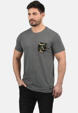 Solid - CALVIN - T-Shirt print - grey melange