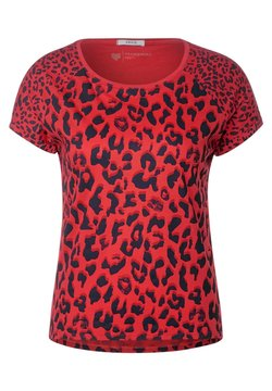 Cecil - MIT LEO-MUSTERMIX - T-Shirt print - orange