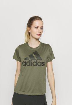 adidas Performance - LOGO TEE - T-Shirt print - olive