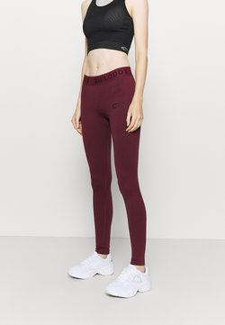 Smilodox - SEAMLESS STAIN - Tights - bordeaux