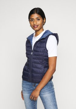 ONLY Petite - ONLNEWTAHOE QUILTED WAISTCOAT  - Chaleco - night sky