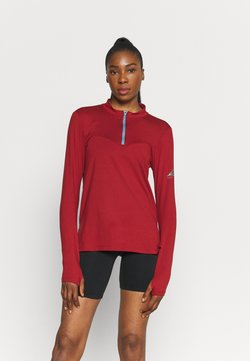 Nike Performance - ELEMENT TRAIL MIDLAYER - Funktionsshirt - dark cayenne