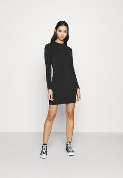 Even&Odd - Mini high neck long sleeves bodycon dress - Vestido de tubo - black