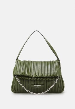 KARL LAGERFELD - SUSTAINABLE AMBER VALLETTA KLXAV PLEATED FOLDED TOTE - Shopping Bag - green