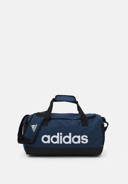 adidas Performance - LINEAR DUFFEL S UNISEX - Sportväska - crew navy/black/white