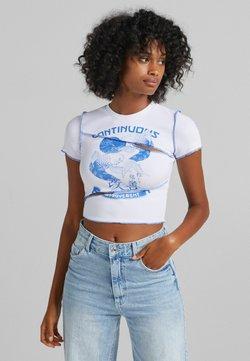 Bershka - T-shirt z nadrukiem - bllue