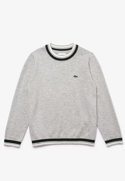 Lacoste - SWEATERS - Strickpullover - gris chine / blanc