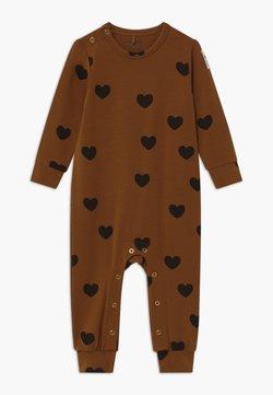 Mini Rodini - BABY HEARTS UNISEX - Jumpsuit - brown