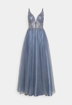 Swing - ABENDKLEID MIT PERLENBESTICKTEM OBERTEIL - Festklänning - blue dust