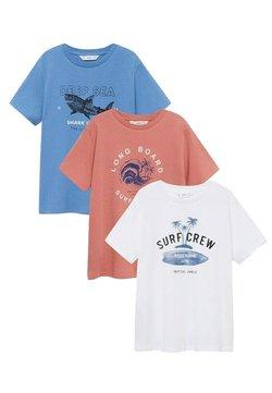 Mango - 3 PACK - T-Shirt print - gebroken wit
