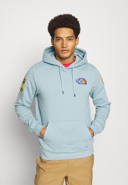 The North Face - NOVELTY PATCH HOODIE - Felpa - tourmaline blue