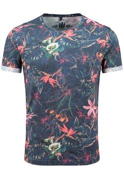 Key Largo - MT JUNGLES - T-Shirt print - dark blue