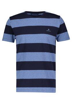 GANT - BARSTRIPE - T-Shirt print - darkblue (83)