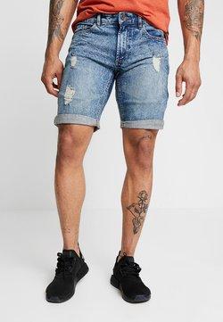 Redefined Rebel - OSLO DESTROY - Szorty jeansowe - frozen blue