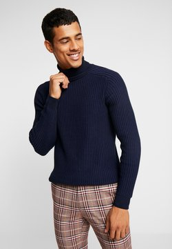 Pier One - Pullover - mottled dark blue
