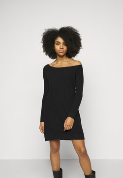 Even&Odd Petite - Strickkleid - black
