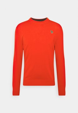 PS Paul Smith - MENS CREW NECK ZEBRA - Strickpullover - red
