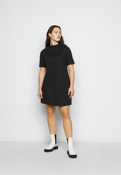 Simply Be - HIGH NECK SWING DRESS - Freizeitkleid - black