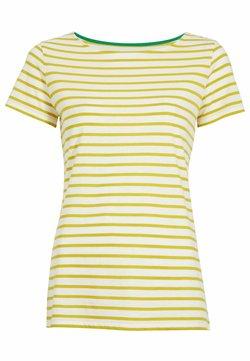 Boden - T-Shirt print - naturweiß/schwefelgelb