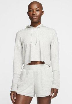 Nike Performance - YOGA LUXE CROP HOODIE - Kapuzenpullover - grey heather/grey fog/platinum tint