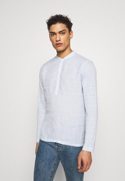120% Lino - GURU - Camisa - pacific blue soft fade