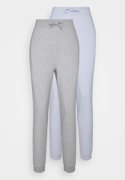 Even&Odd Tall - 2 PACK - Jogginghose - mottled light grey/light blue