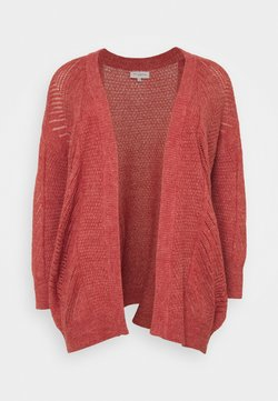 ONLY Carmakoma - CARROSE CARDIGAN  - Chaqueta de punto - mineral red/ melange