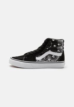 Vans - SK8-HI - Korkeavartiset tennarit - black/true white