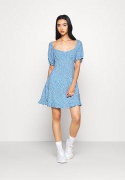 Miss Selfridge - DITSY SWEETHEART DRESS - Freizeitkleid - blue