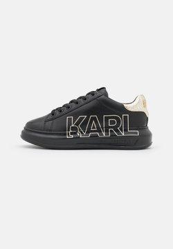 KARL LAGERFELD - KAPRI OUTLINE LOGO - Sneakers basse - black/gold