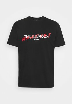 The Kooples - WEISSES KÖRPERBETONTES T-SHIRT MIT LOG - T-shirt imprimé - black