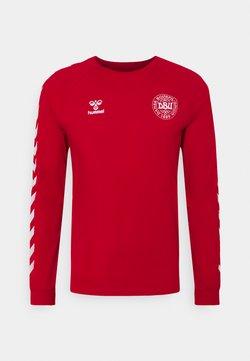 Hummel - DÄNEMARK DBU FAN 2020 TEE - National team wear - tango red
