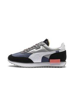 Puma - FUTURE RIDER PLAY ON UNISEX - Sneaker low - black-white-blue indigo